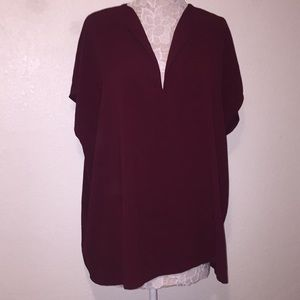 American apparel dark Maroon v neck shirt